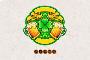 Print on Demand: Two Beer Glasses Cheers St Patricks Day Graphic Illustrations By artgrarisstudio