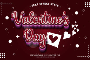 VALENTINE'S DAY RED 3D TEXT EFFECTS Graphic Layer Styles By Neyansterdam17