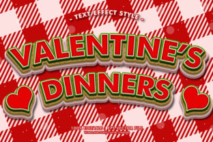 VALENTINE'S DINNERS TEXT EFFECTS STYLE Graphic Layer Styles By Neyansterdam17