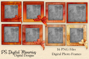Watercolor Photo Frames Clipart Set 1 Graphic Objects By PS Digital Memories