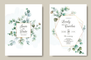 Wedding Invitation Floral Design Graphic Print Templates By dinomikael01