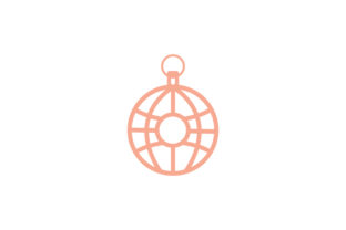 Print on Demand: Earring Ball Line Icon Vector Design Graphic Icons By vectoryzen
