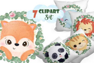Print on Demand: Adorable Wild Animals Clipart Set Graphic Illustrations By DrawStudio1988