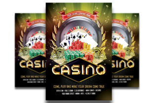 Print on Demand: Casino Flyer Template #4 Graphic Print Templates By Matthew Design