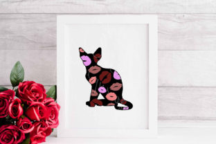 Devon Rex Cat Kisses Graphic Crafts By Designs of Whimsy