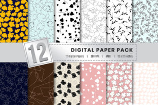 Print on Demand: Digital Paper Bundle Pack Graphic Backgrounds By AmitDebnath