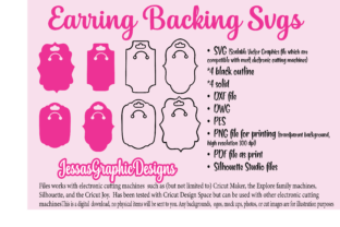 Print on Demand: Earrings Backing SVG Graphic Crafts By JessasGraphicDesgins