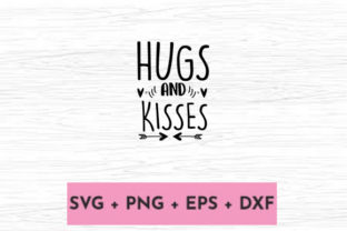 Print on Demand: HUGS and KISSES Graphic Print Templates By svg.in.design