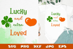 Print on Demand: Lucky St. Patrick's Day SVG - Baby Quote Graphic Crafts By Citrum Nobile