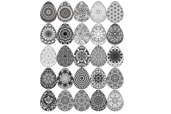 Mandala Coloring Easter Egg Pages Graphic Coloring Pages & Books Adults By SweetDesign
