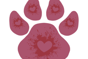 Pink Dog Paw Graphic Illustrations By Irmasartsandcrafts