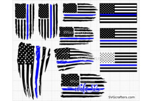 Print on Demand: Police Svg Bundle, Thin Blue Line Svg Graphic Crafts By SVGcrafters