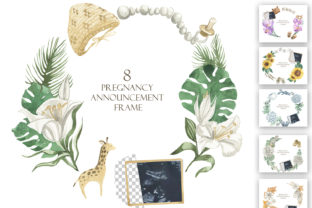 Print on Demand: Pregnancy Announcement Frame Graphic Illustrations By laffresco04