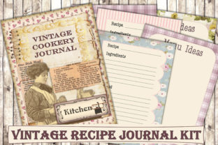 Print on Demand: Printable Cookery Recipes Journal Kit Graphic Crafts By The Paper Princess