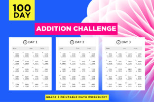 Print on Demand: Printable Addition Activity Worksheets Graphic 2nd grade By Riduwan Molla