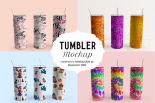 Print on Demand: Skinny Tumbler Mockup Graphic Product Mockups By Pixtordesigns