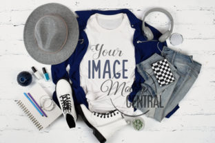 Teen Cool Trendy T-Shirt Flatlay Mockup Graphic Product Mockups By Mockup Central
