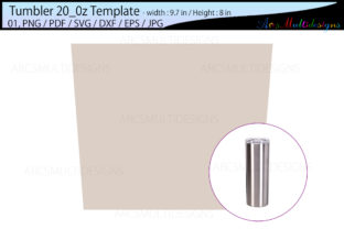 Print on Demand: Tumbler 20 Oz Template Graphic Print Templates By Arcs Multidesigns