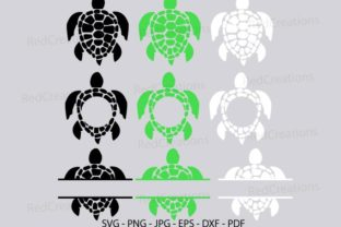 Turtle Svg, Sea Turtle, Ocean Animal Graphic Crafts By RedCreations
