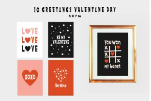 Valentine Day Greetings Graphic Print Templates By Typescroll