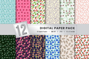 Print on Demand: Watercolor Floral Digital Paper Bundle Graphic Backgrounds By AmitDebnath