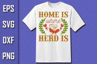 Print on Demand: Farm House Svg Design,Home is Where My Graphic Print Templates By Pro Designer