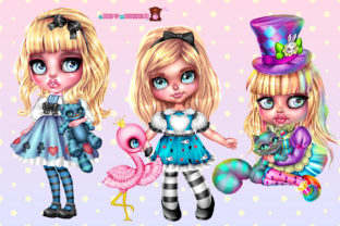 Print on Demand: 3 Alice in Wonderland Characters in PNG Graphic Illustrations By ladymishka