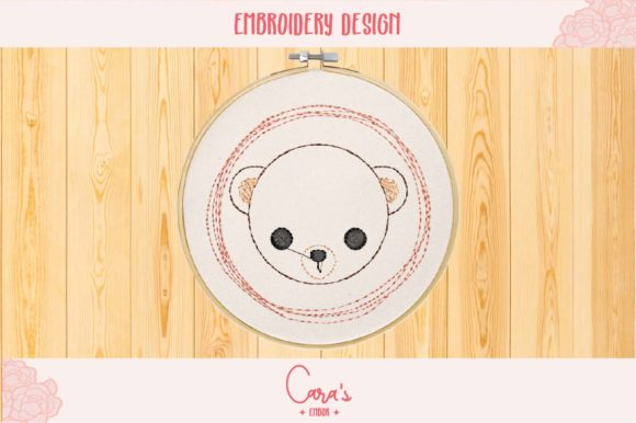 Bear Baby Animals Embroidery Design By carasembor