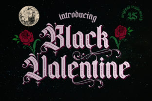 Print on Demand: Black Valentine Blackletter Font By Gumacreative