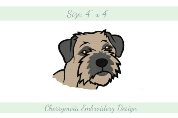 Border Terrier Dogs Embroidery Design By CherrymoiaEmbroidery
