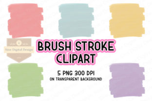 Print on Demand: Brush Stroke Background Sublimation Grafik Illustrationen von SineDigitalDesign