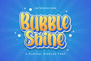 Print on Demand: Bubble Shine Display Font By StringLabs