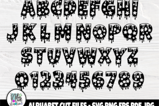 Print on Demand: Christmas Font SVG, Dripping Svg Files Graphic Crafts By nibaartstudio