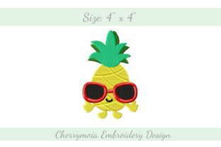Cool Pineapple Summer Embroidery Design By CherrymoiaEmbroidery