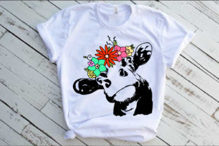 Cow with Flowers Bandana Heifer Graphic Illustrations By Yayasvg
