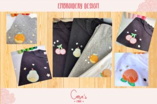 Cute Fruits Food & Dining Embroidery Design By carasembor