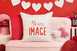 Cute Valentine's Day Home Chair Mockup Graphic Product Mockups By Mockup Central