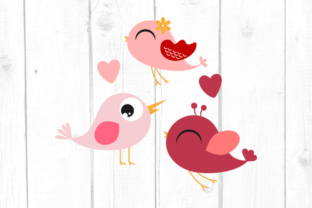 Cute Little Valentines Day Birds Svg Graphic Crafts By kaoticsvgdesigns