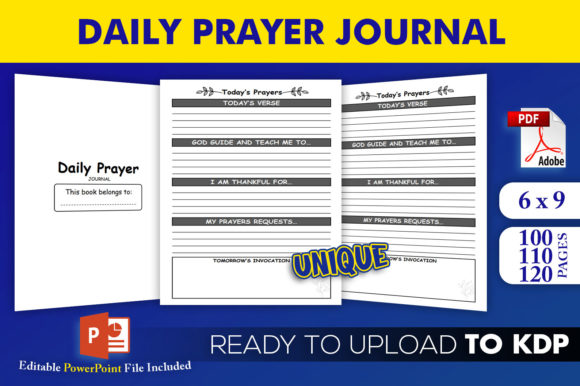 Print on Demand: Daily Prayer Journal Book | KDP Interior Grafik KPD Innenseiten von Beast Designer