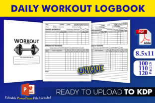 Print on Demand: Daily Workout Logbook | KDP Interior Graphic KDP Interiors By Beast Designer