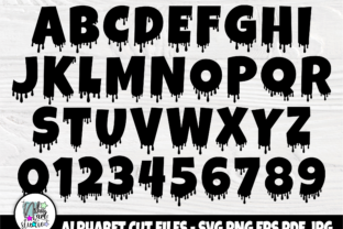Print on Demand: Dripping Font SVG, Dripping Letters Svg Graphic Crafts By nibaartstudio