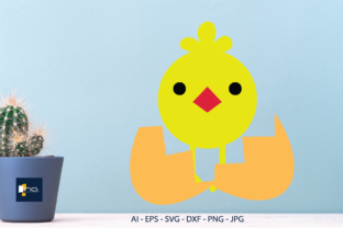 Print on Demand: Easter Icon Chicks in Egg Shells Graphic Icons By Na Punya Studio