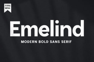 Print on Demand: Emelind Sans Serif Font By Typia Nesia