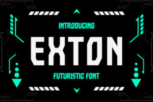 Print on Demand: Exton Display Font By TypeFactory