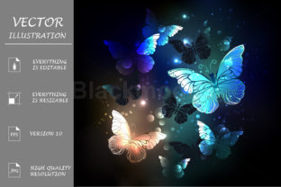 Fluttering Butterfly Graphic Illustrations By Blackmoon9