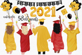 Print on Demand: Graduation Clipart Graduate Students Graphic Illustrations By LeCoqDesign