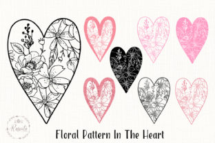 Heart with a Floral Pattern/1 Graphic Illustrations By Rasveta