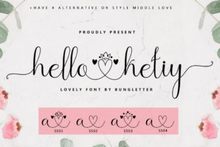 Print on Demand: Hello Ketiy Script & Handwritten Font By bungletter