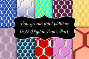 Print on Demand: Honeycomb Print Patterns Digital Paper Graphic Patterns By A Design in Time