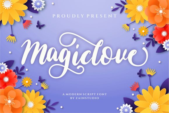 Print on Demand: Magic Love Script & Handwritten Font By zainstudio